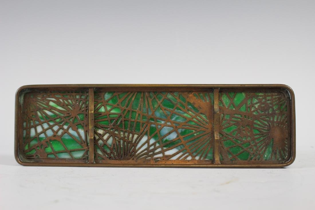 Tiffany Studios Bronze Pine Needle Pen Tray - 2