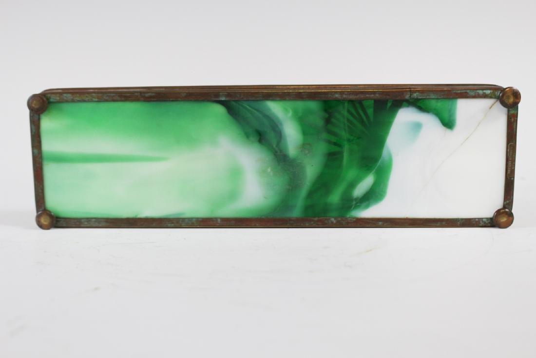 Tiffany Studios Bronze Pine Needle Pen Tray - 5