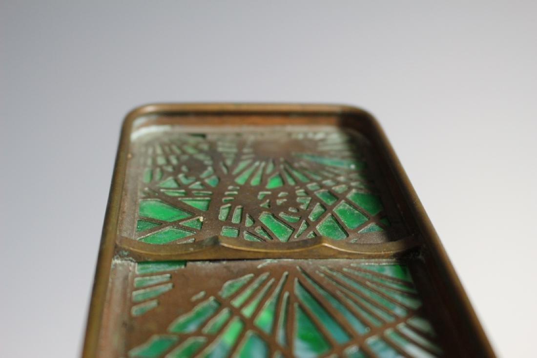 Tiffany Studios Bronze Pine Needle Pen Tray - 9