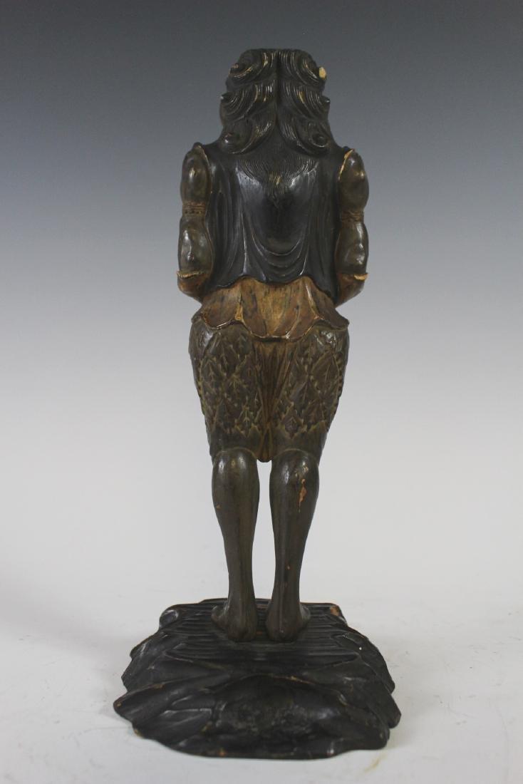 18Th C Edo Polychrome Japanese Oni Devil Statue - 6