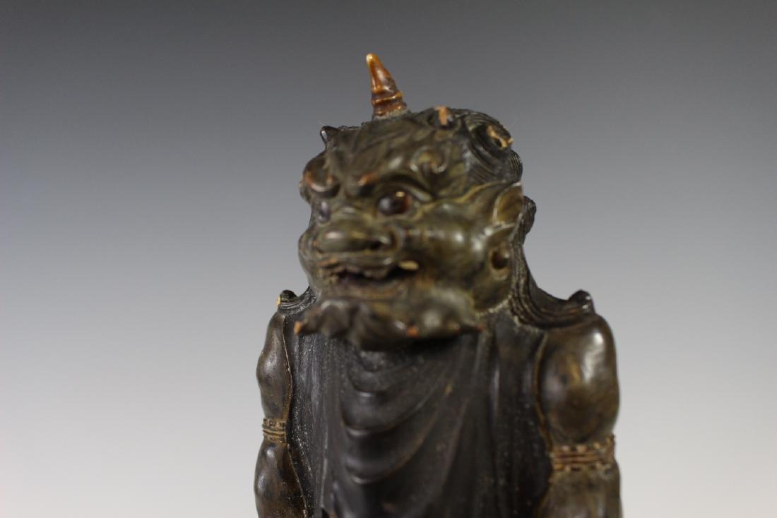 18Th C Edo Polychrome Japanese Oni Devil Statue - 8