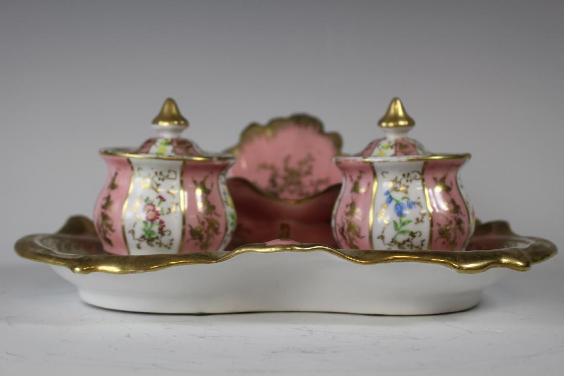 German Porcelain Inkwell - 2