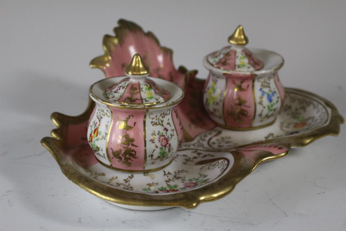 German Porcelain Inkwell - 3