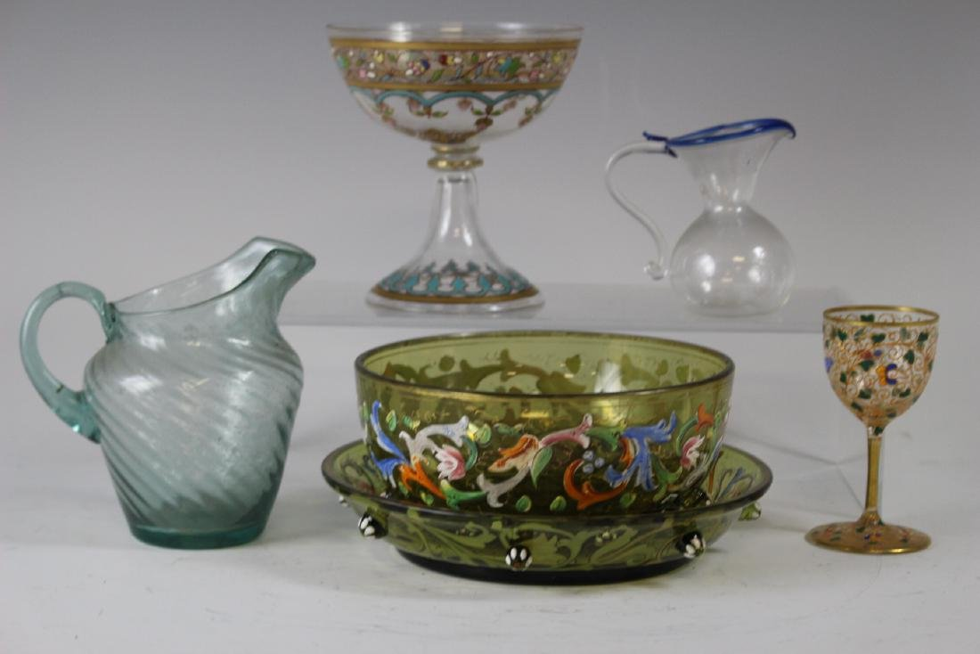 Seven Pieces of French & Venetian Art Glass