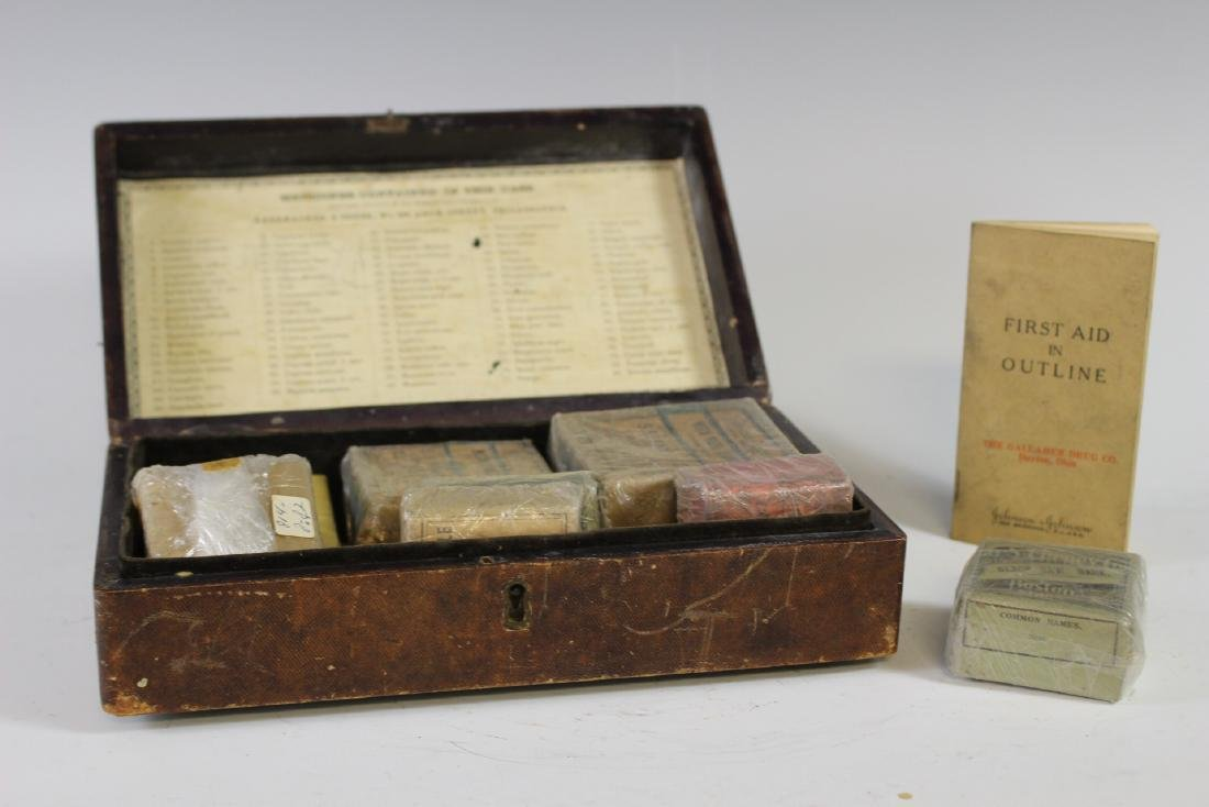 19th Century Tooled Leather  Medical Box