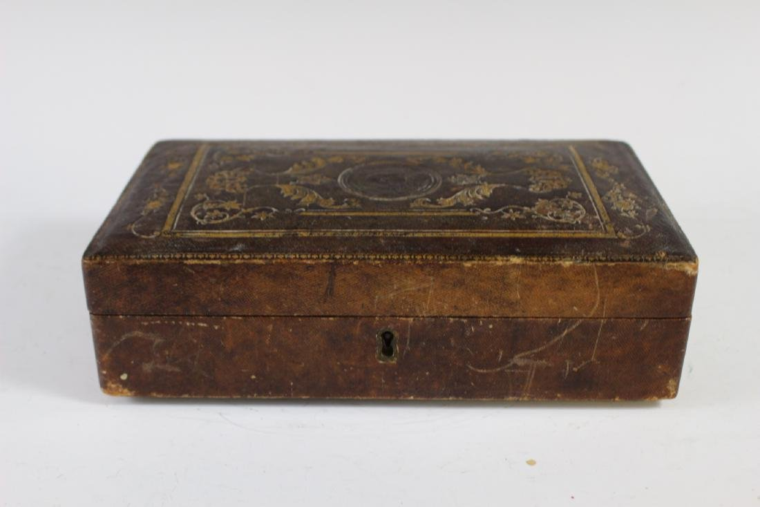 19th Century Tooled Leather  Medical Box - 3