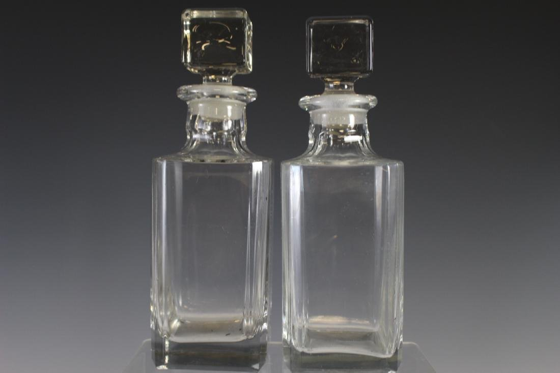 Oak Tantalus Decanter Bottle Set - 7