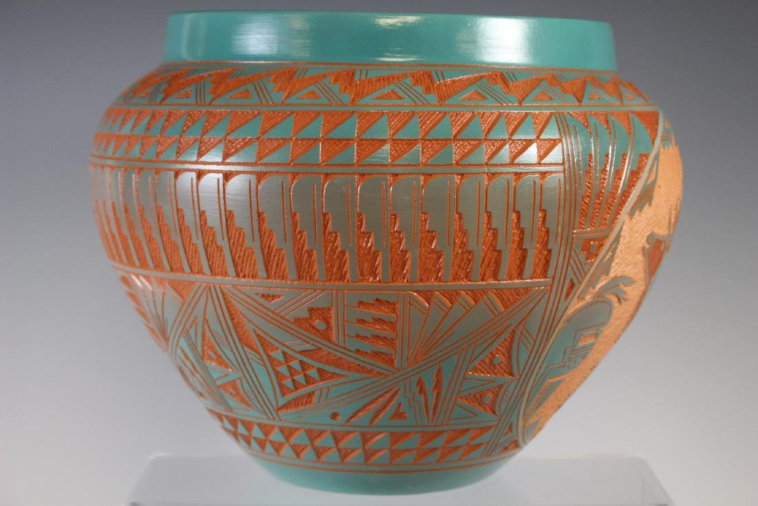 Large Southwest Native Acoma Pottery - 4