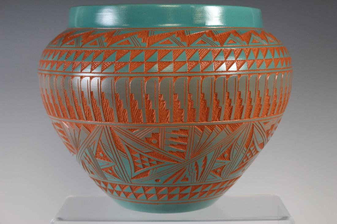 Large Southwest Native Acoma Pottery - 5