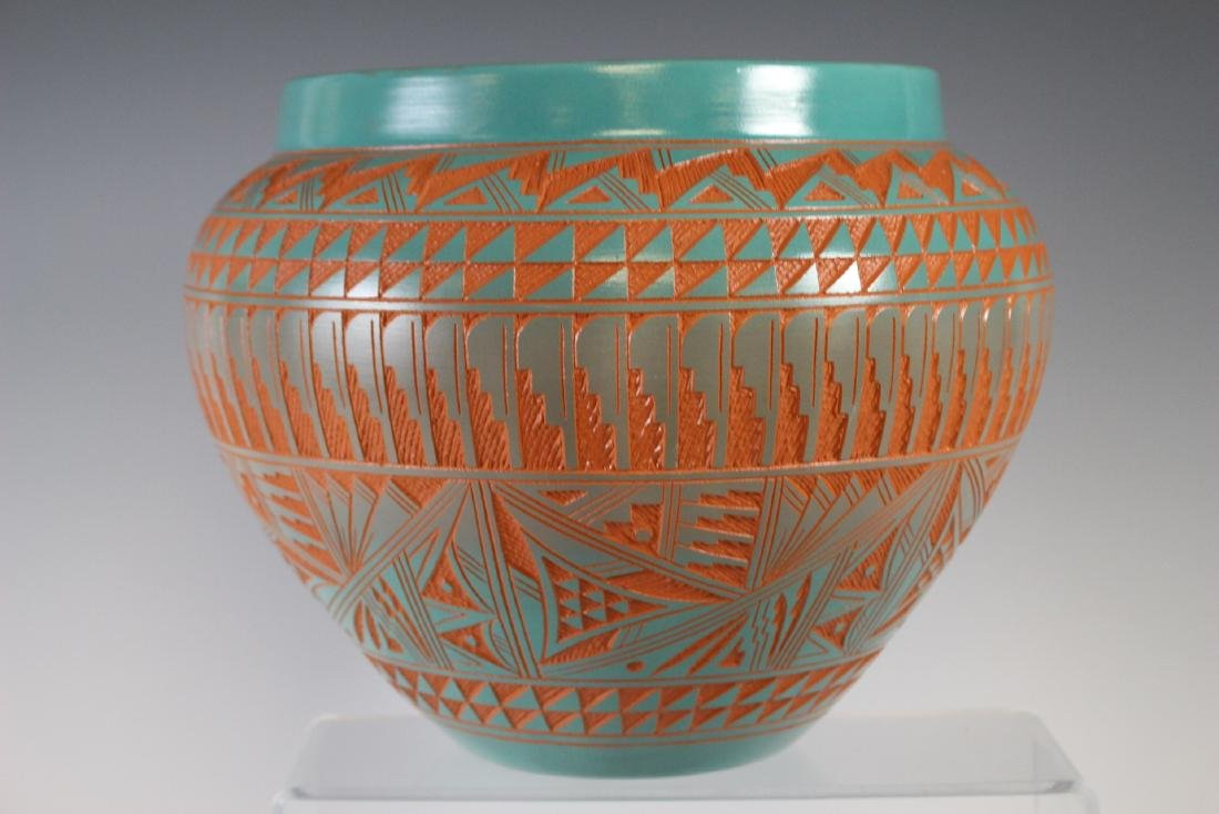 Large Southwest Native Acoma Pottery - 6