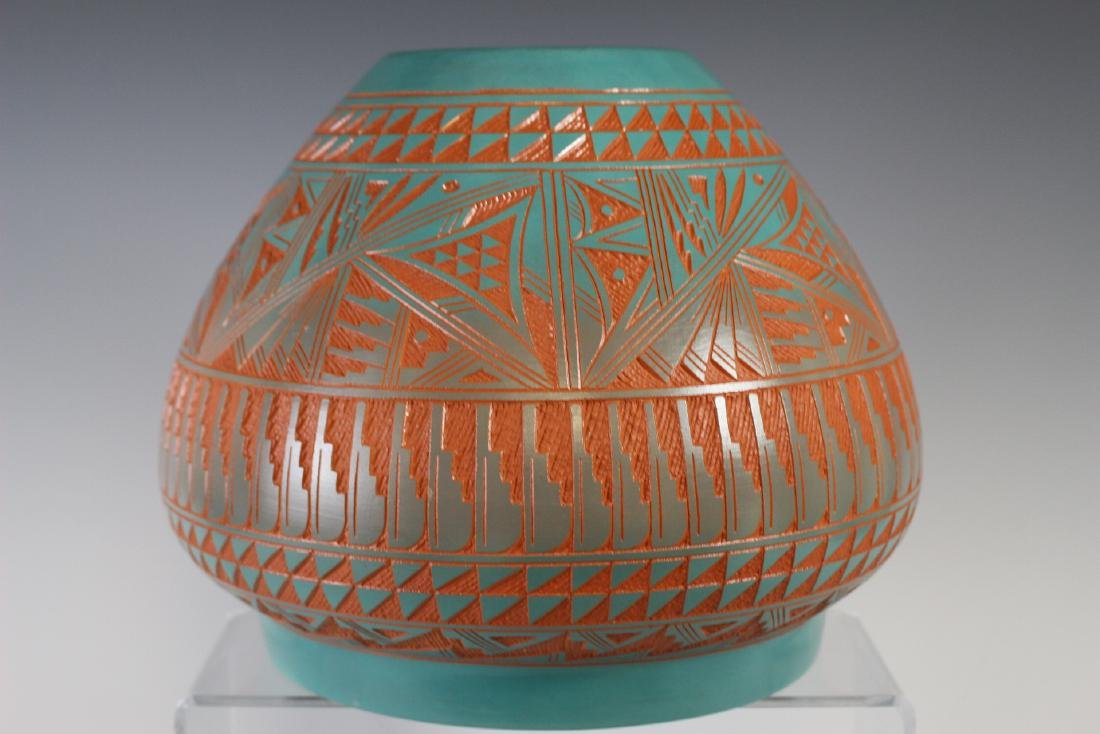 Large Southwest Native Acoma Pottery - 8