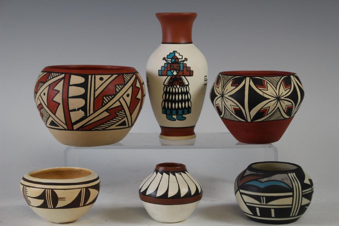 Six Navajo Indian Hopi Bowls