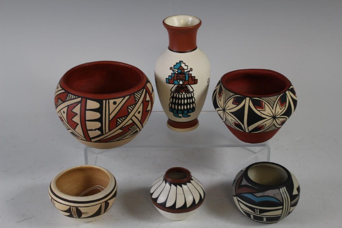 Six Navajo Indian Hopi Bowls - 2