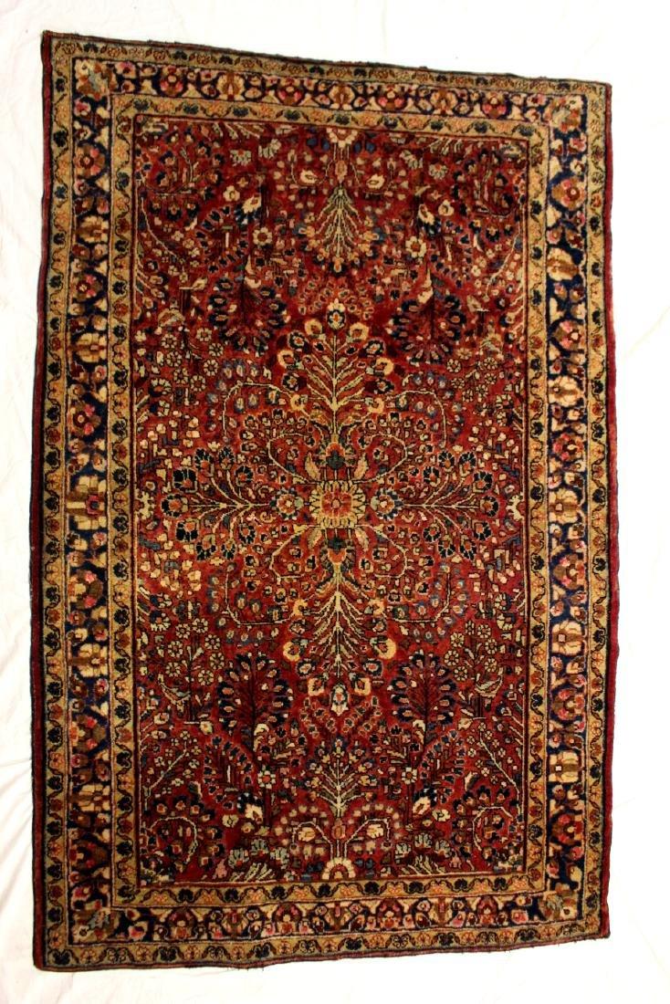 Semi-Antique Sarouk Persian Carpet