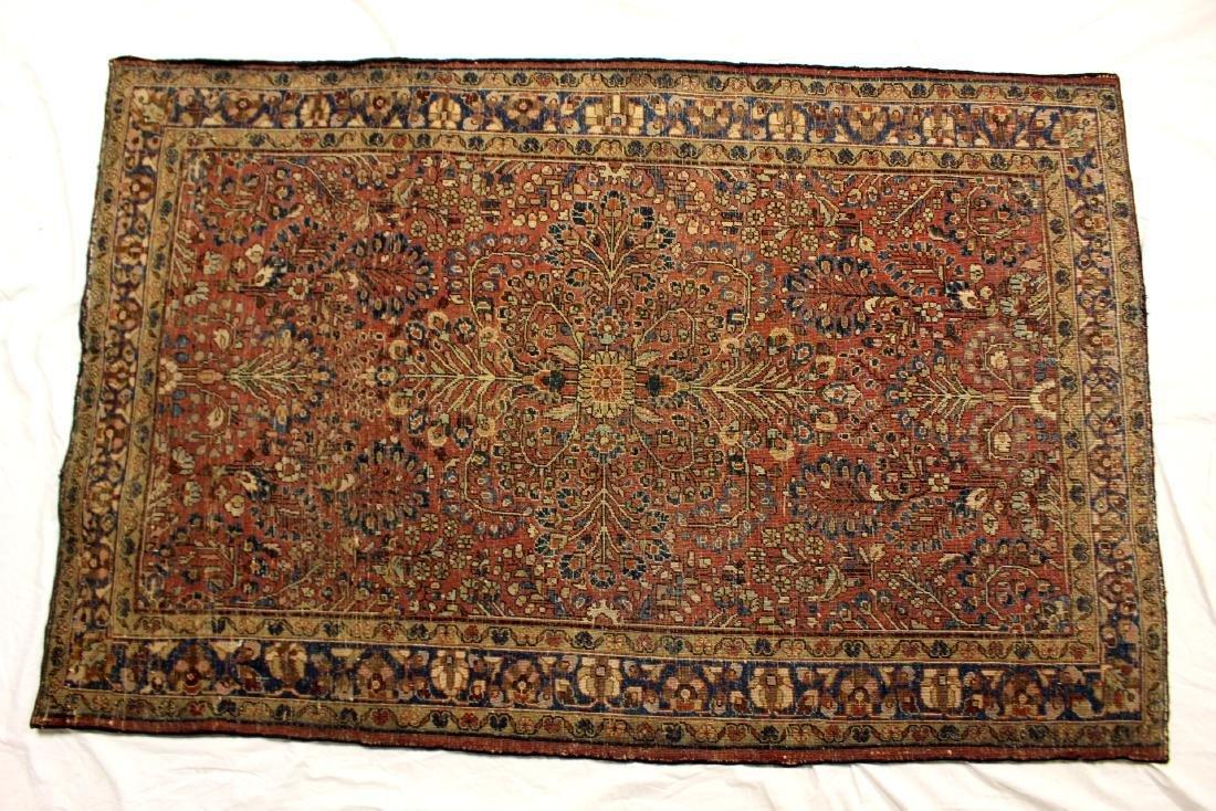 Semi-Antique Sarouk Persian Carpet - 9