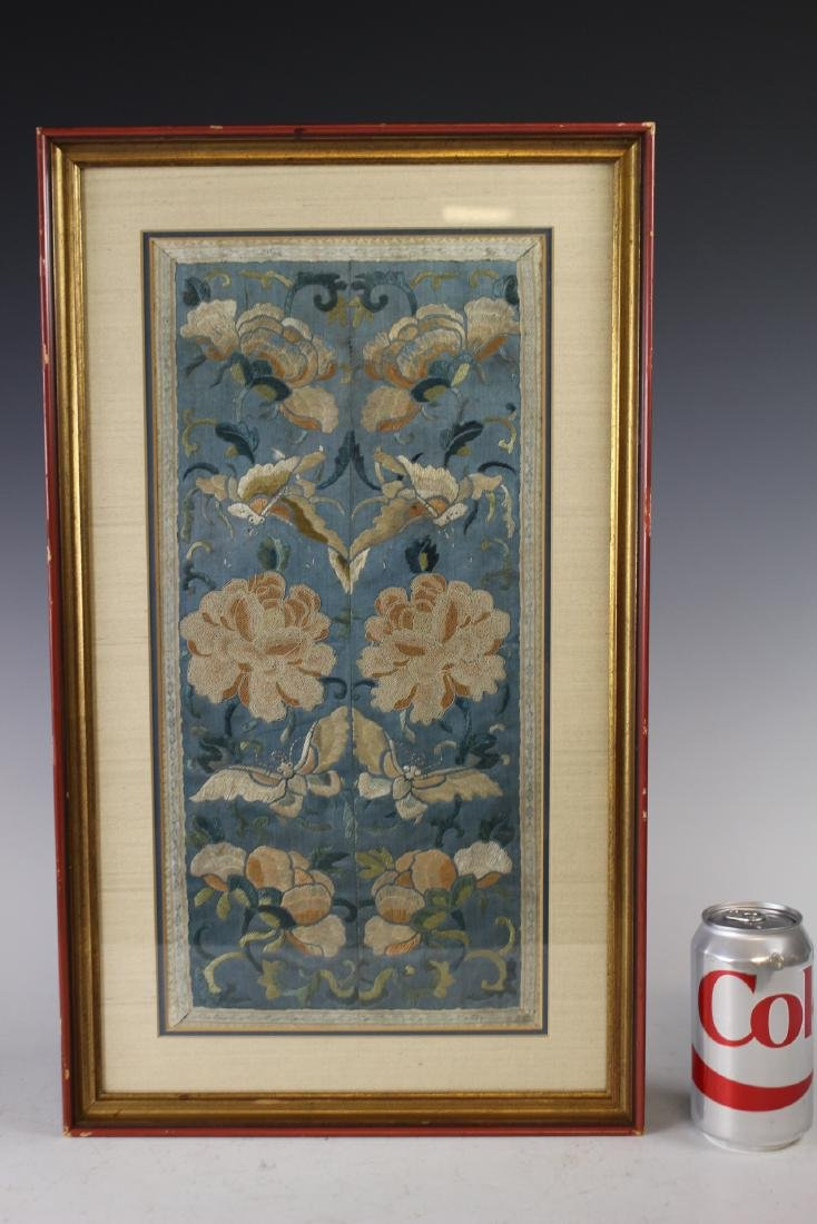 Chinese Framed Silk Embroidery - 8
