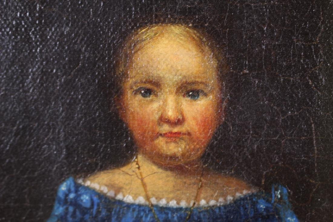 AMERICAN Folk Art O/C Painting by W. Matthew - 5