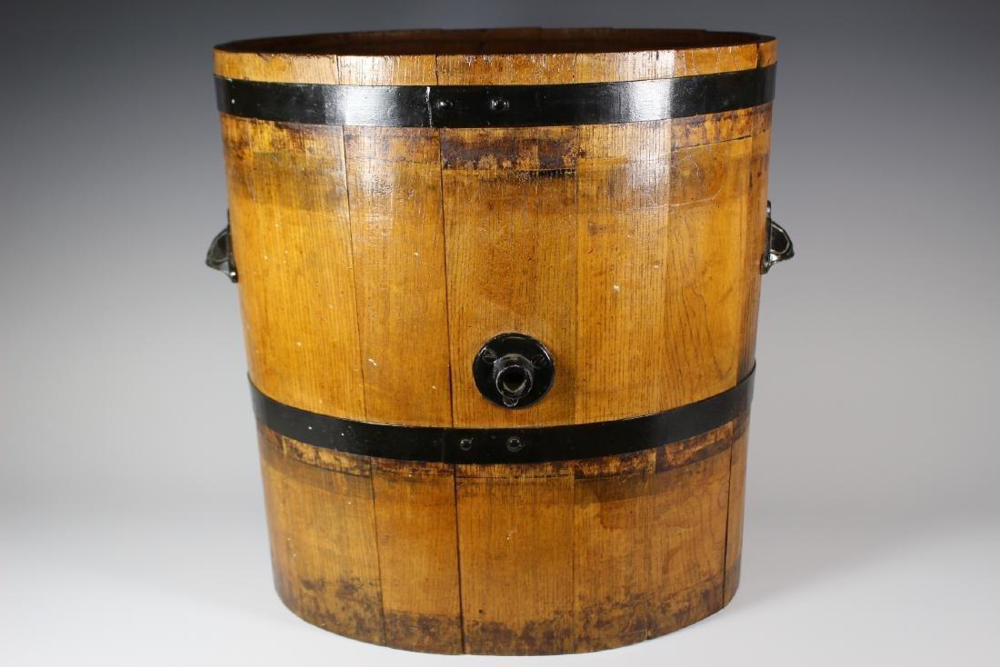 19th Century Oak Banded Barrel