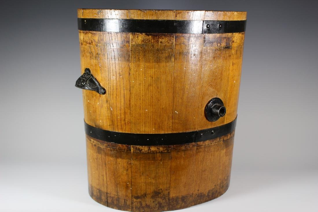 19th Century Oak Banded Barrel - 2