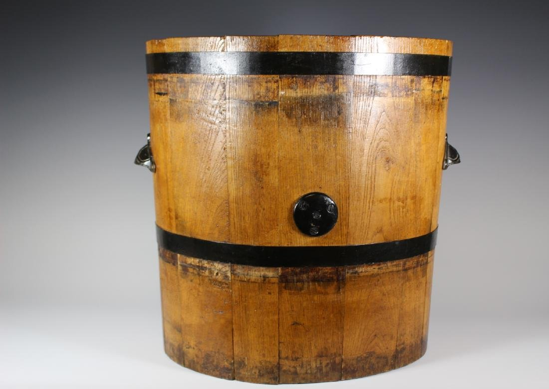 19th Century Oak Banded Barrel - 5