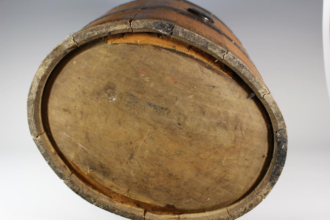 19th Century Oak Banded Barrel - 7