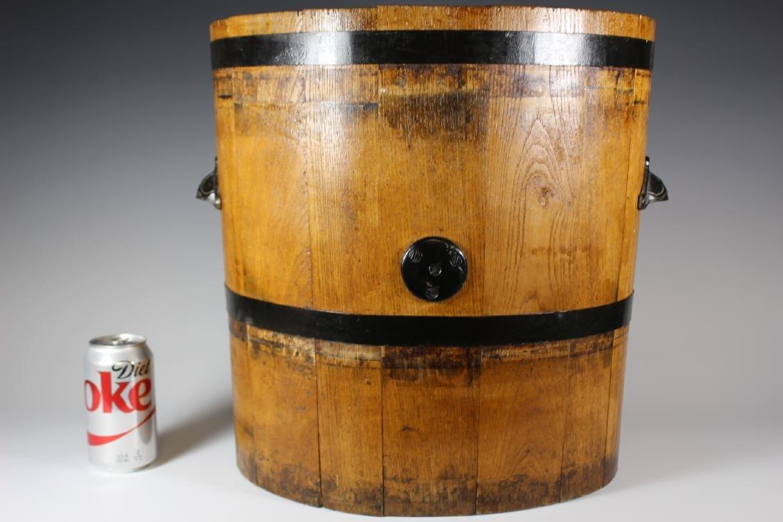 19th Century Oak Banded Barrel - 8