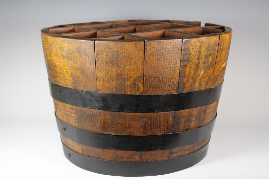Antique Divvied Interior  Wine Barrel