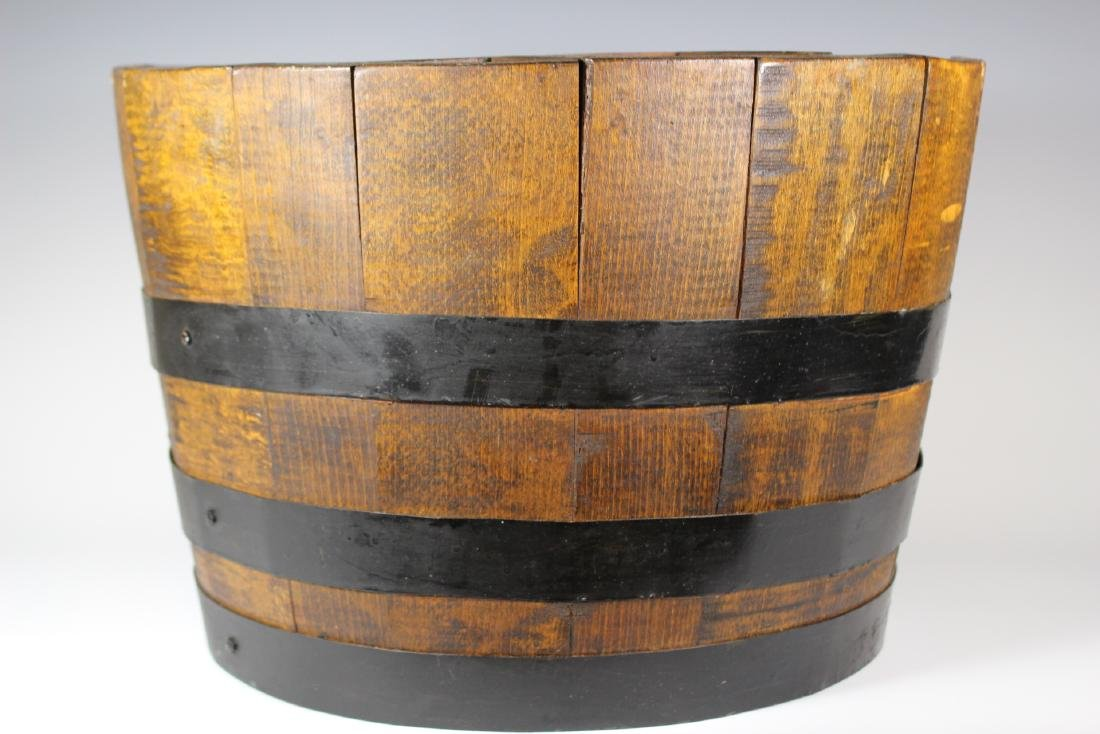 Antique Divvied Interior  Wine Barrel - 2