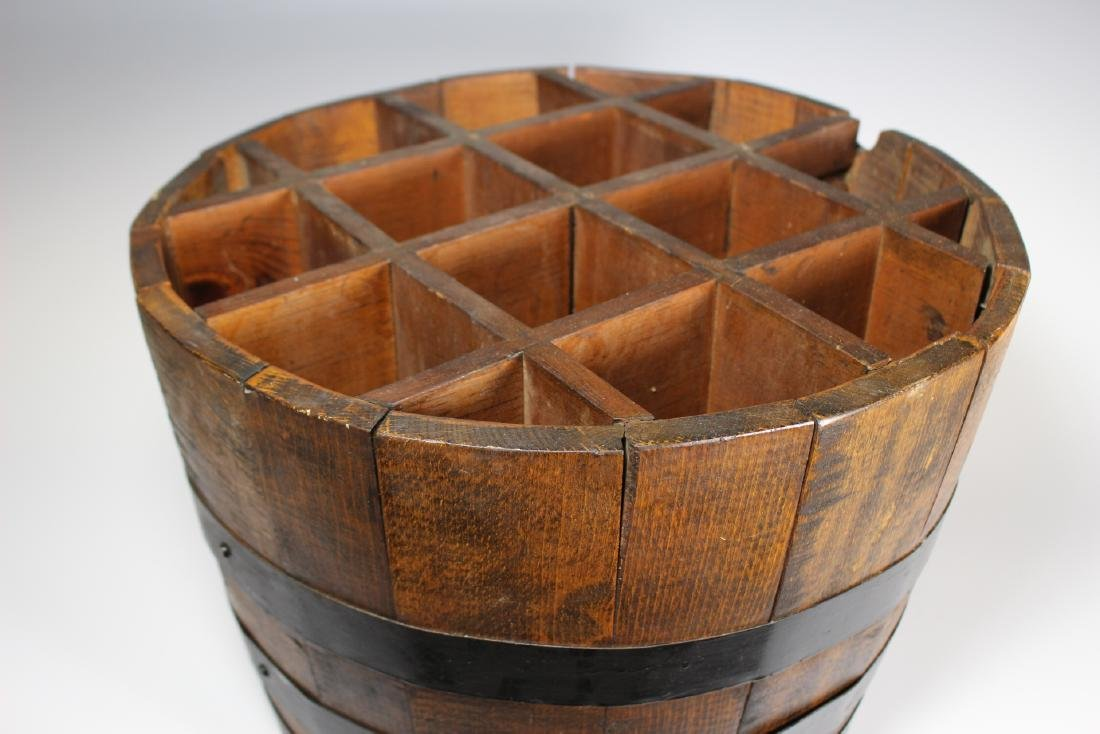 Antique Divvied Interior  Wine Barrel - 3