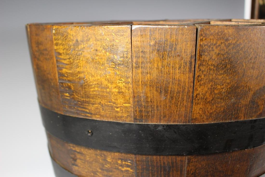 Antique Divvied Interior  Wine Barrel - 5