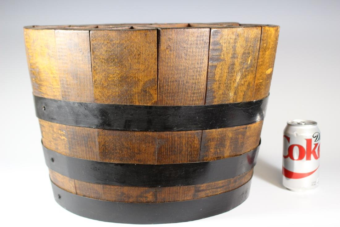Antique Divvied Interior  Wine Barrel - 6