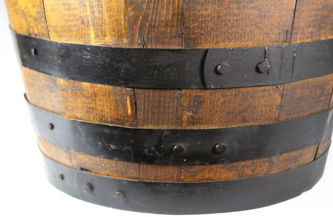 Antique Divvied Interior  Wine Barrel - 7
