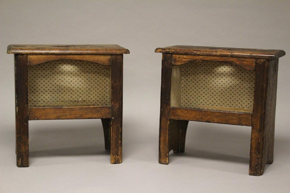 Pair of 19th Century American Yellow Pine Stands