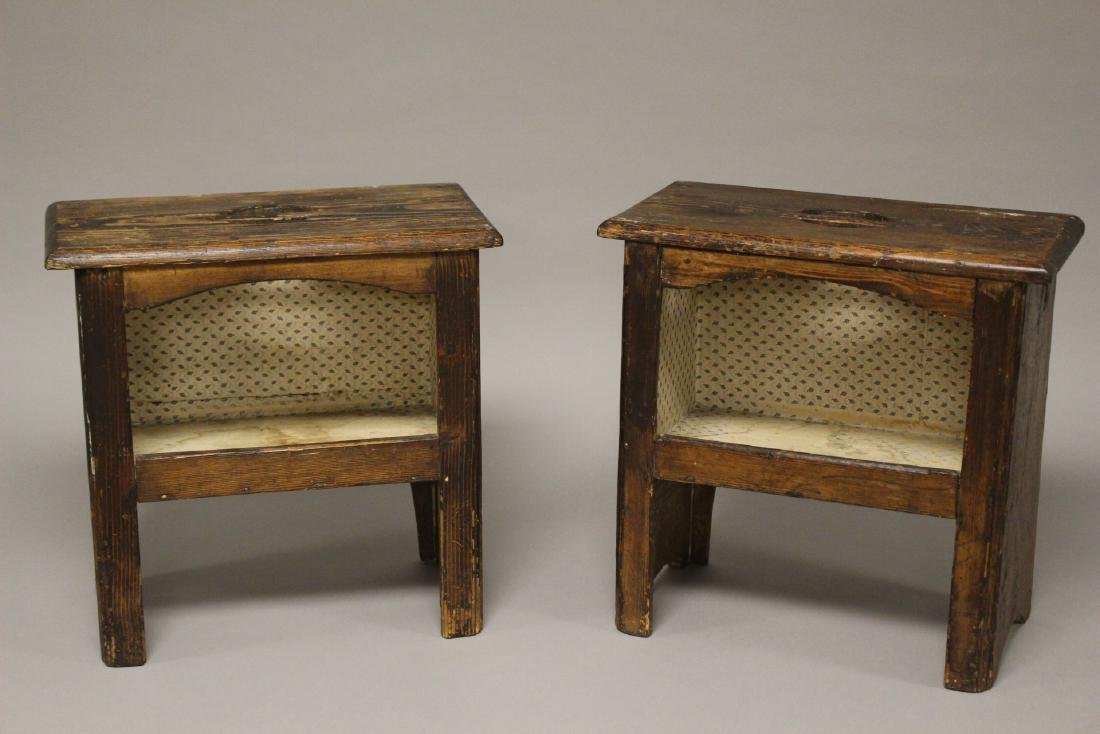 Pair of 19th Century American Yellow Pine Stands - 2