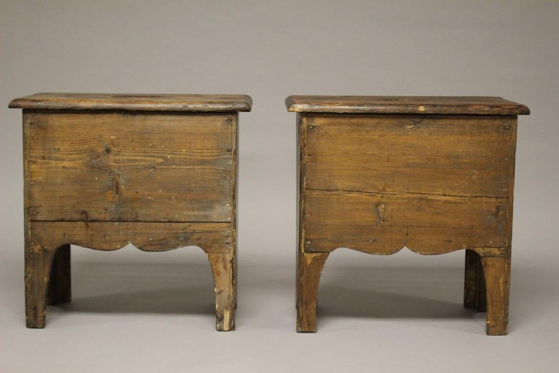 Pair of 19th Century American Yellow Pine Stands - 4