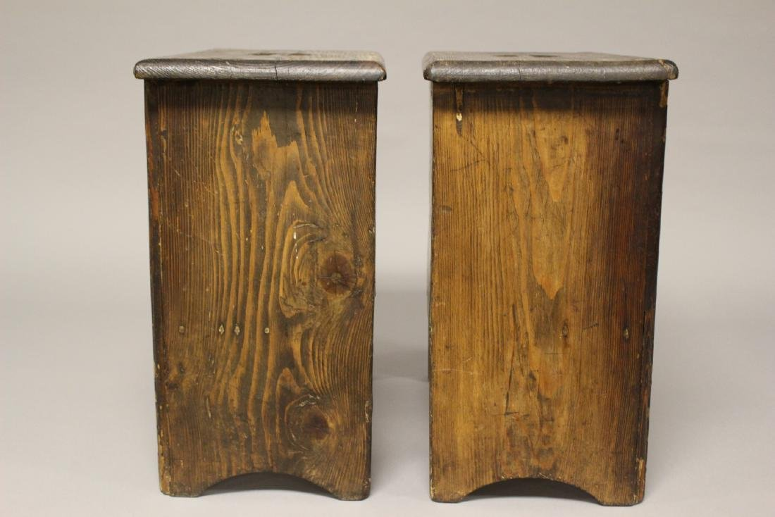 Pair of 19th Century American Yellow Pine Stands - 6