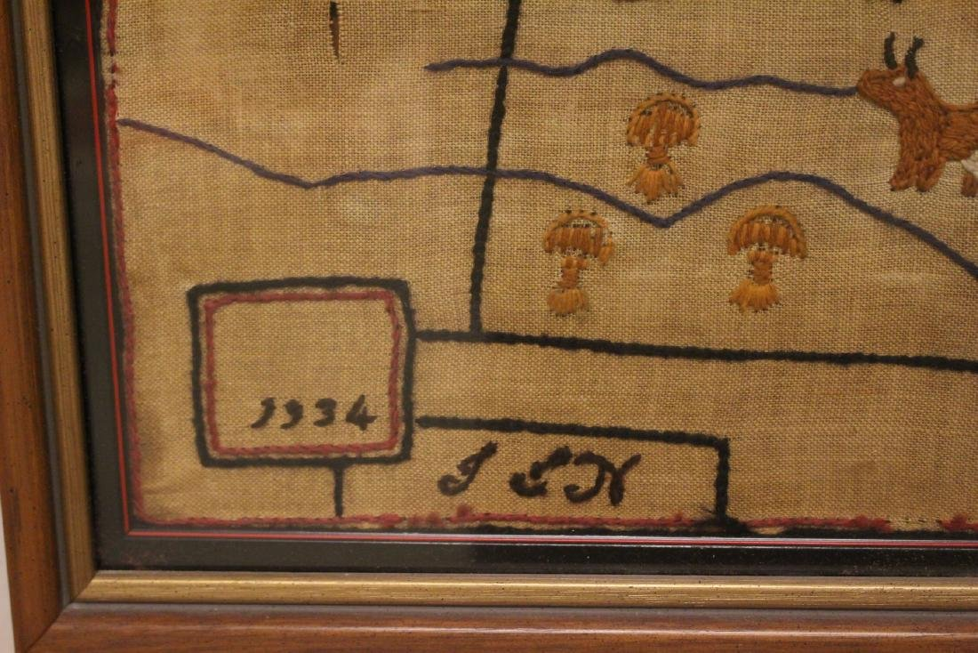 1934 Sampler  MAP of THE MIDDLE WEST - 5