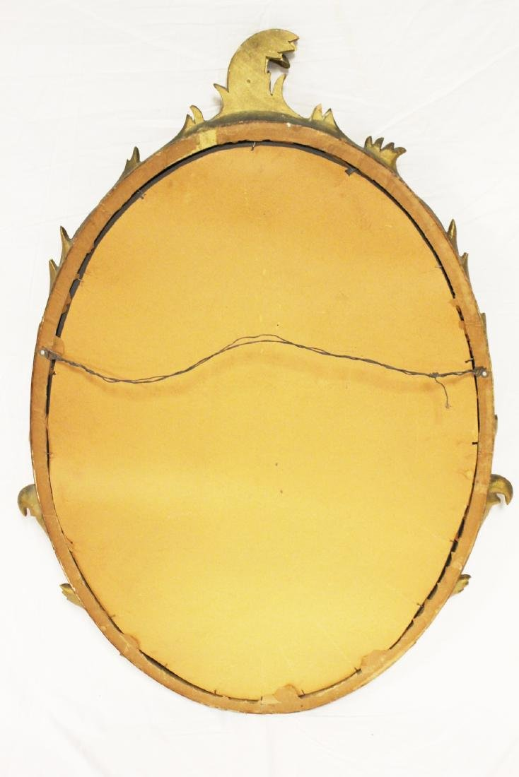 Gold Gilded French Oval Mirror - 7