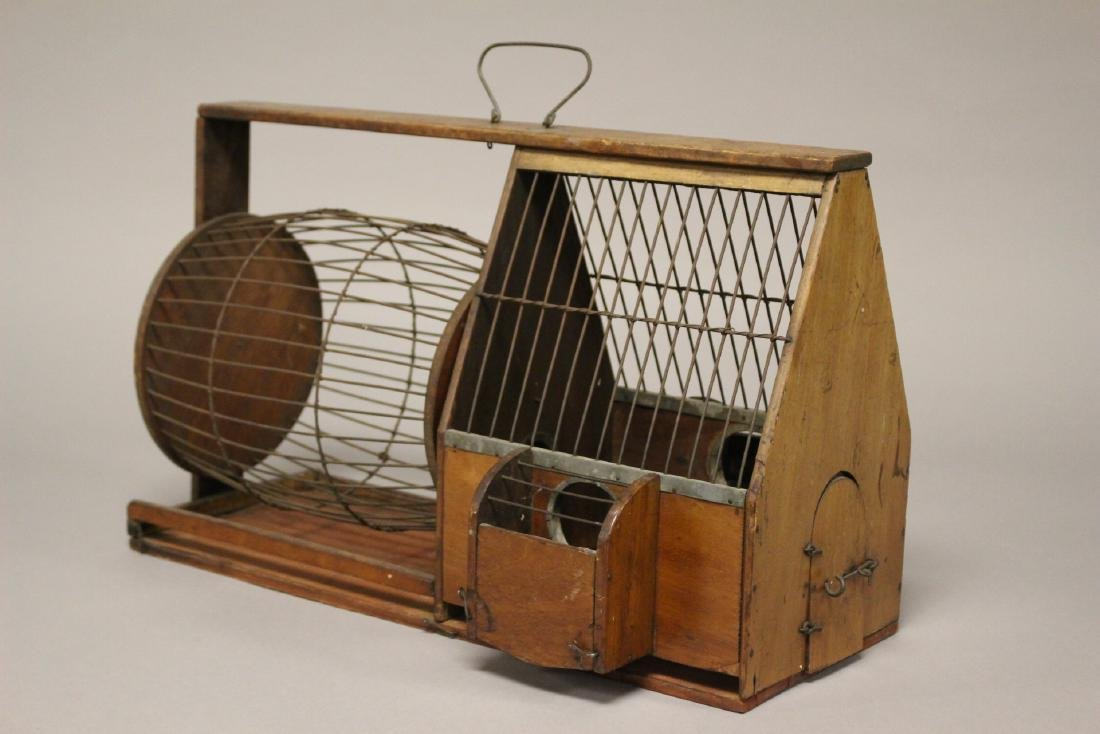 Early Wooden Hamster or Rodent Cage - 2
