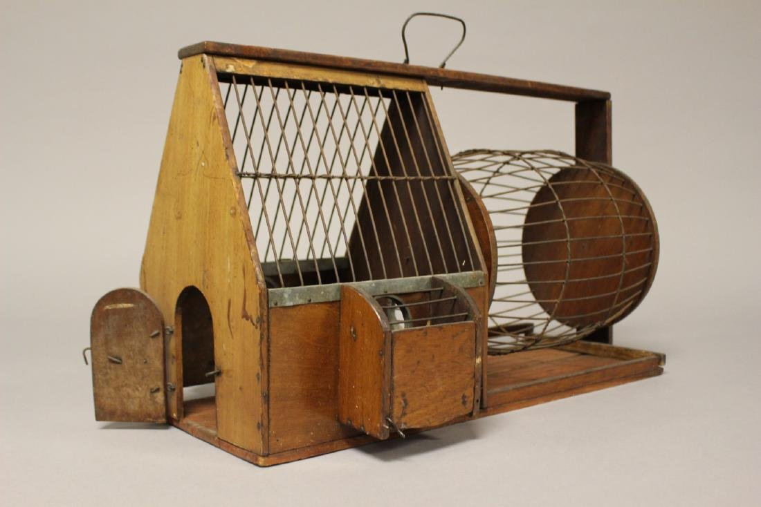 Early Wooden Hamster or Rodent Cage - 4