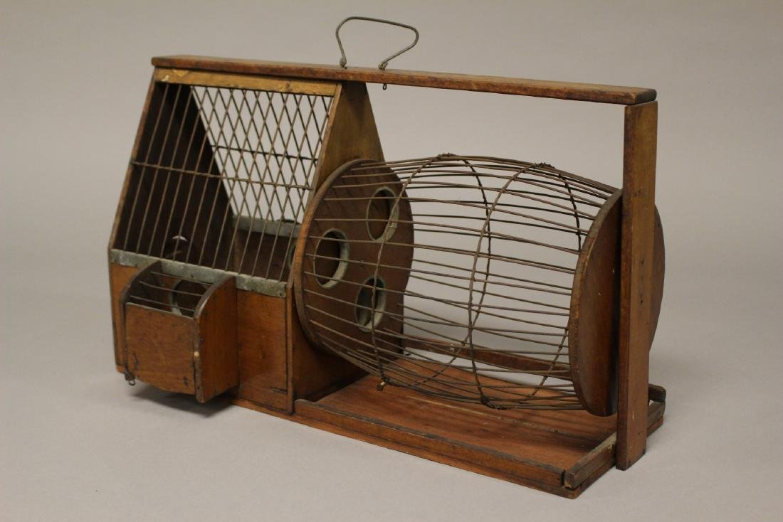 Early Wooden Hamster or Rodent Cage - 5