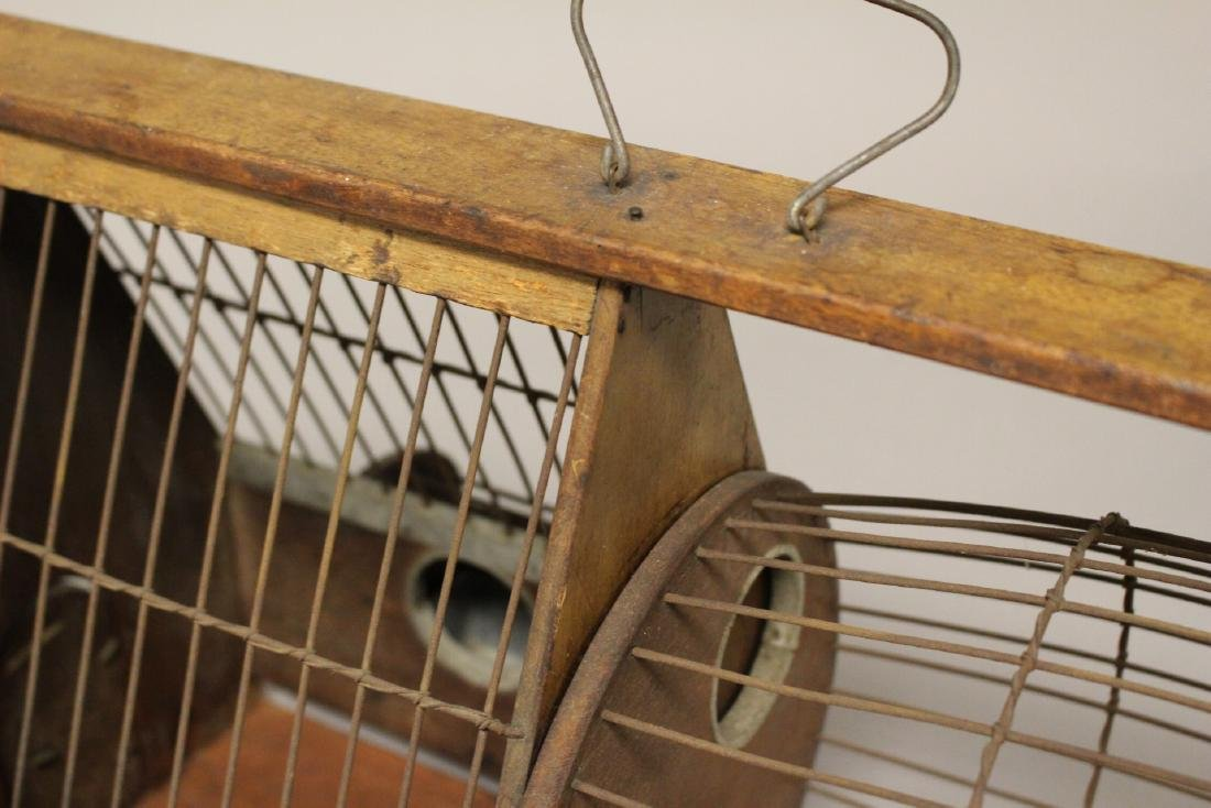 Early Wooden Hamster or Rodent Cage - 6