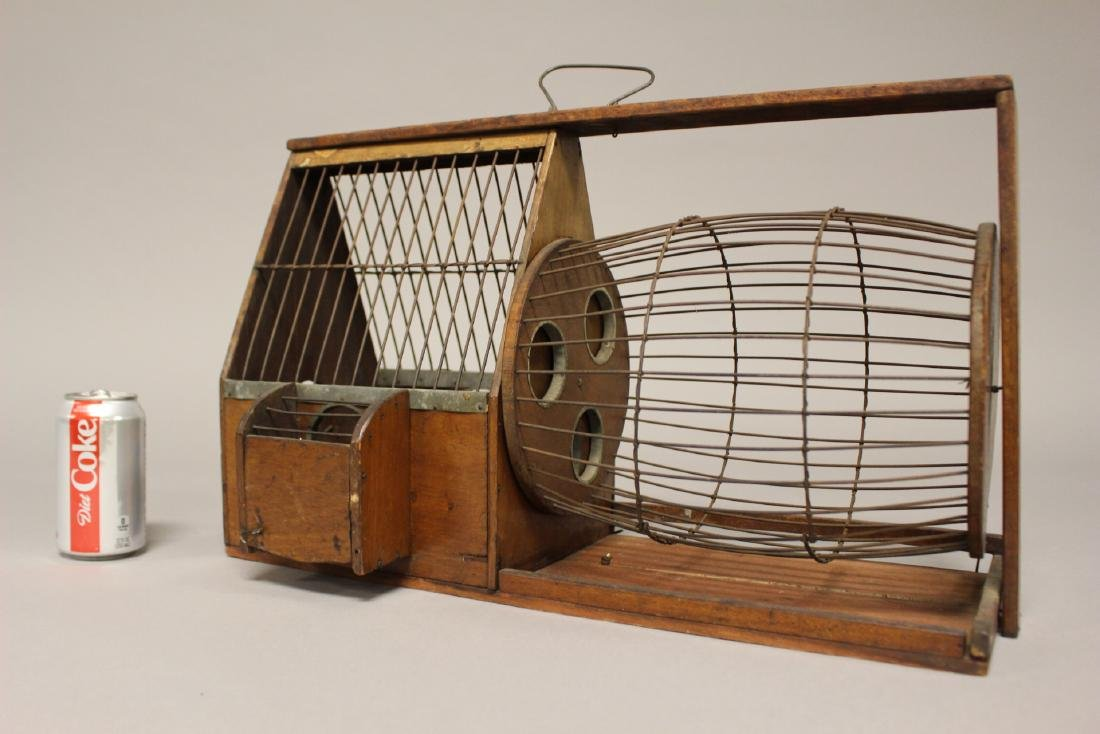 Early Wooden Hamster or Rodent Cage - 8