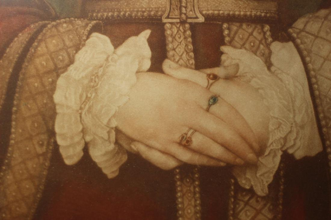 Hand Colored and Signed Engraving of Anne Cleves - 5