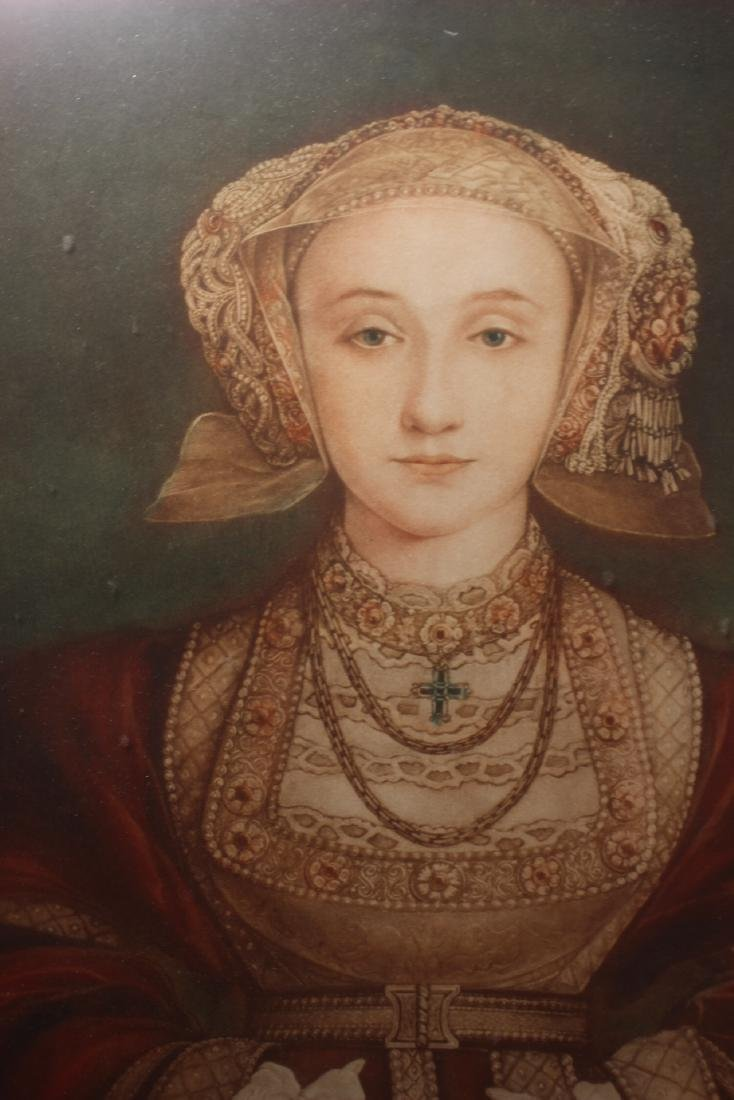 Hand Colored and Signed Engraving of Anne Cleves - 6