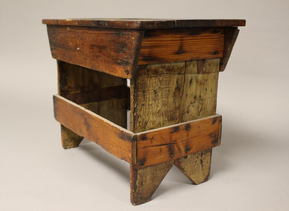 Country American Primitive Bench - 4