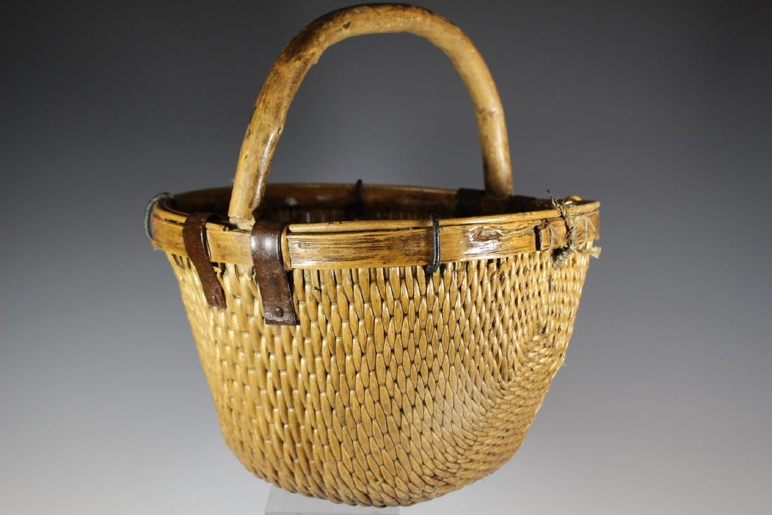 Early Primitive Hand Woven Basket