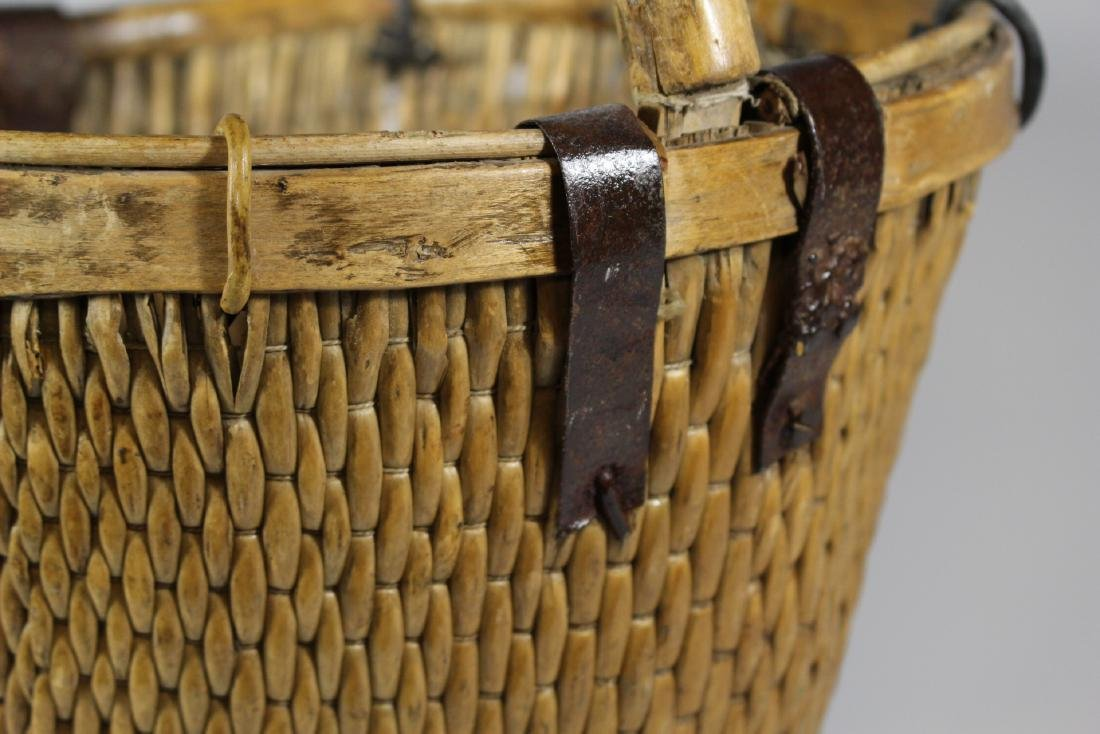 Early Primitive Hand Woven Basket - 3