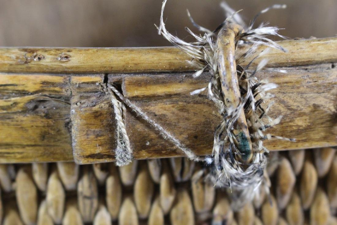 Early Primitive Hand Woven Basket - 5