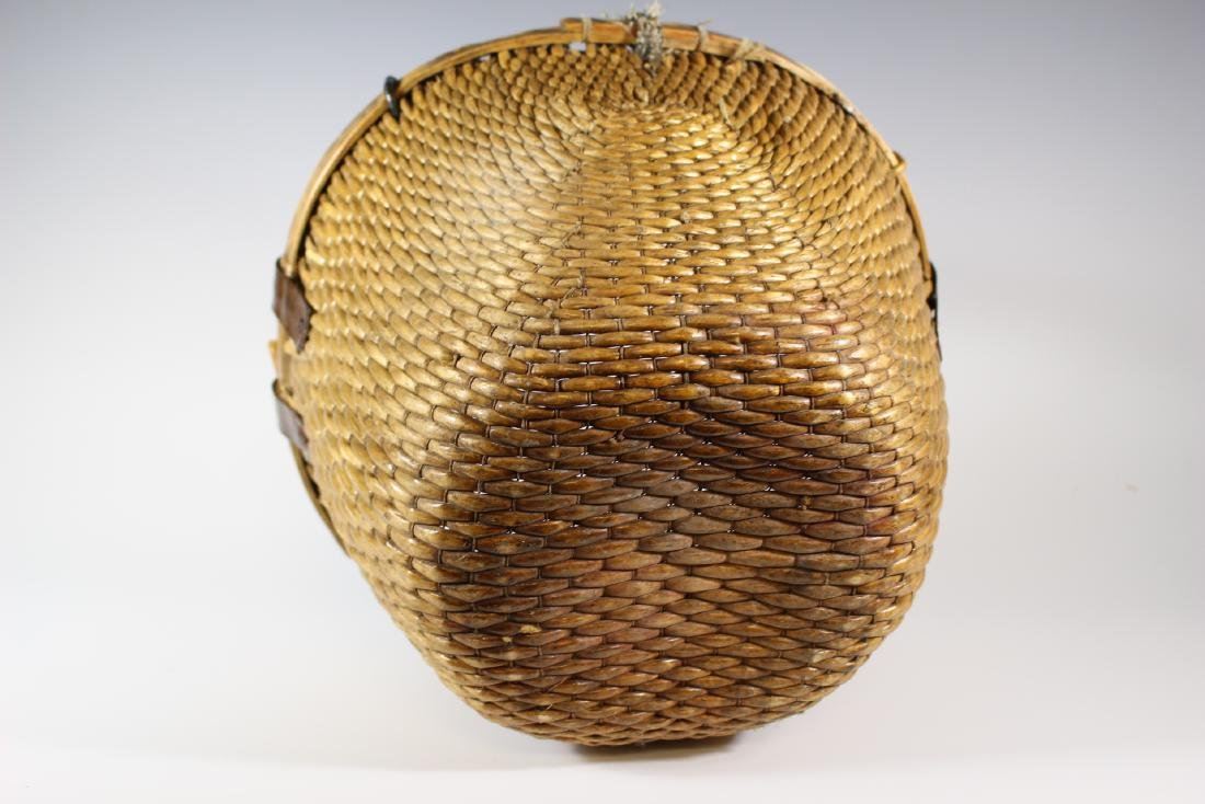 Early Primitive Hand Woven Basket - 6